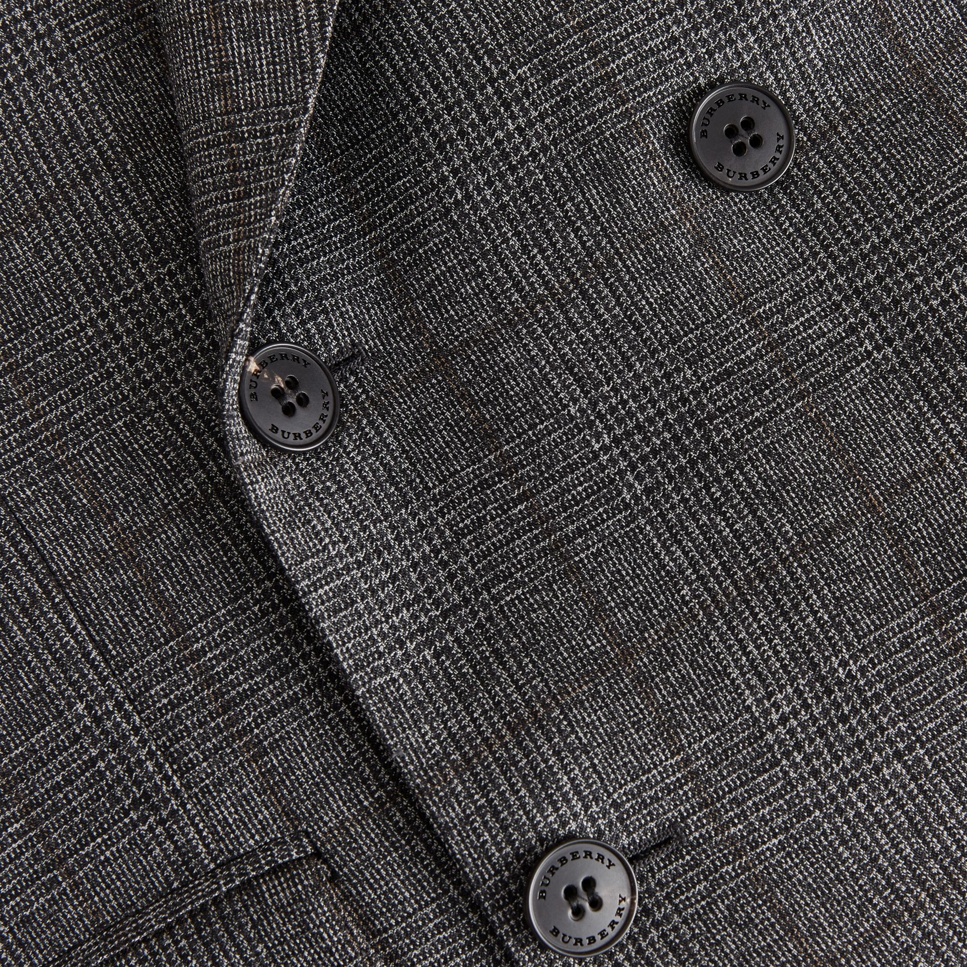 Classic Fit Prince of Wales Check Wool Suit in Charcoal Melange - Men | Burberry United Kingdom - gallery image 9