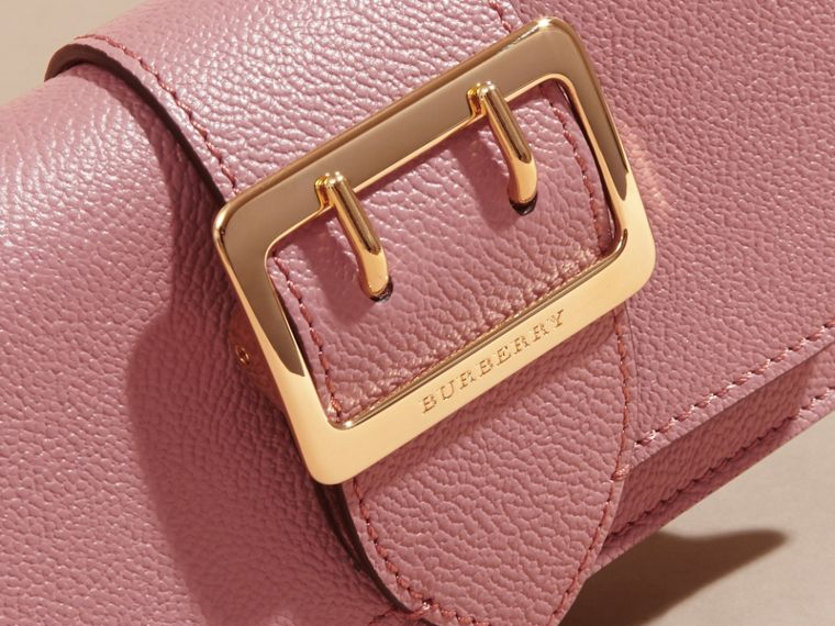 The Mini Buckle Bag in Grainy Leather in Dusty Pink - Women | Burberry - cell image 1