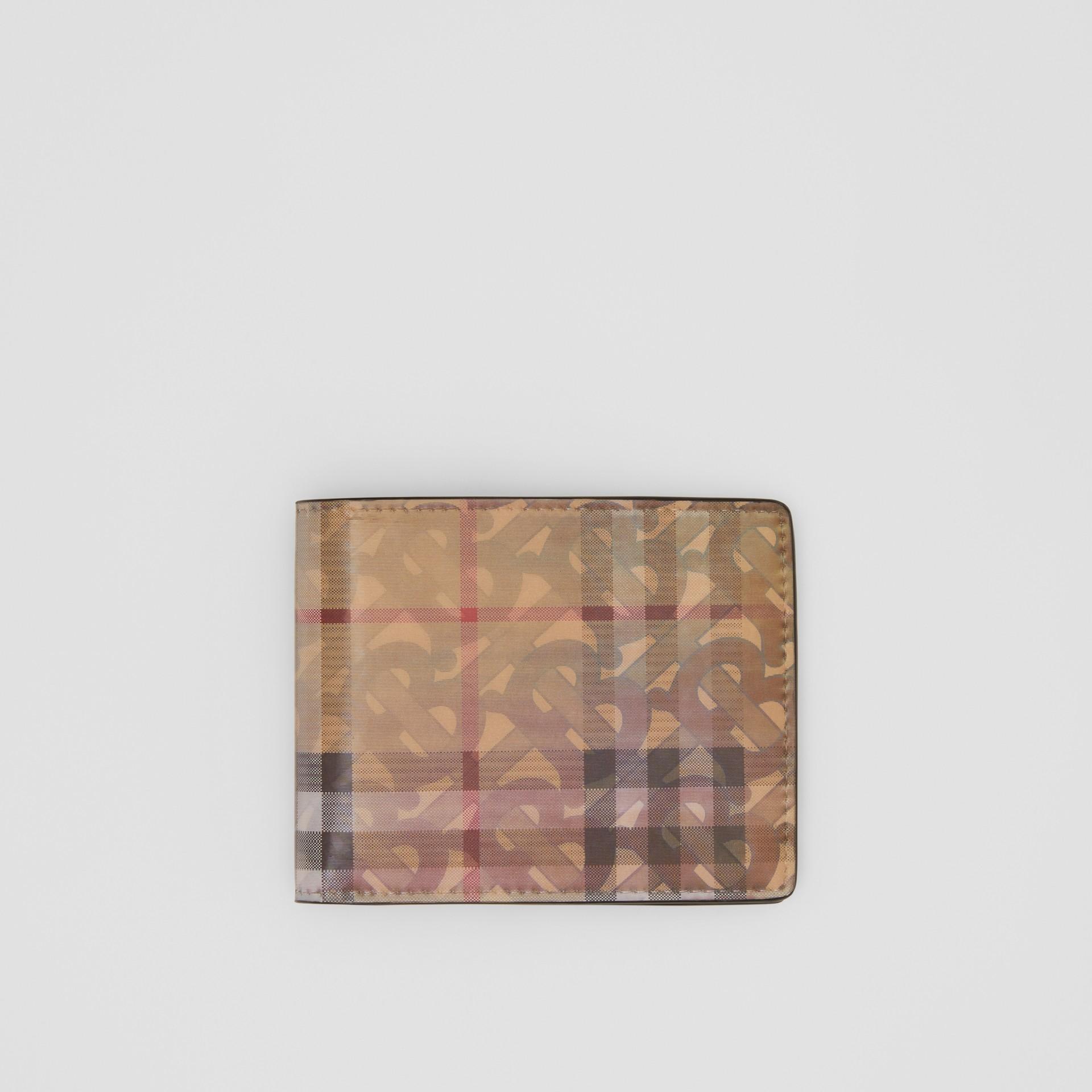 Carteira dobrável com estampa 3D (Bege Vintage) - Homens | Burberry - galeria de imagens 0