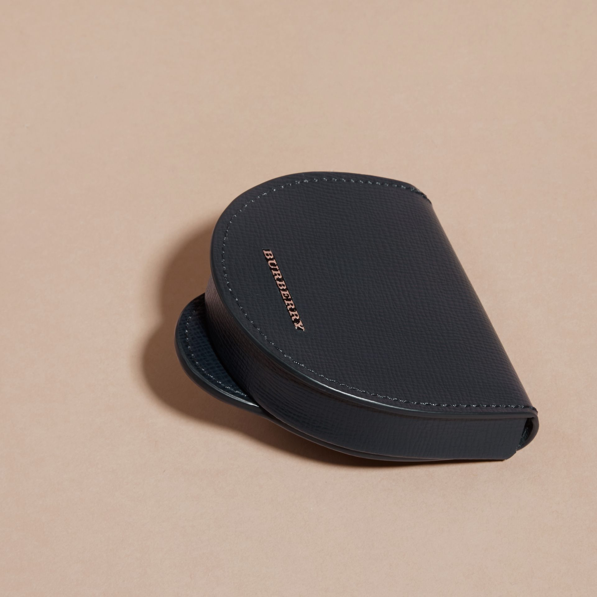 London Leather Coin Case in Dark Navy - Men | Burberry - gallery image 3