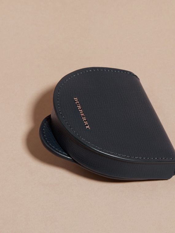 London Leather Coin Case in Dark Navy - Men | Burberry - cell image 2