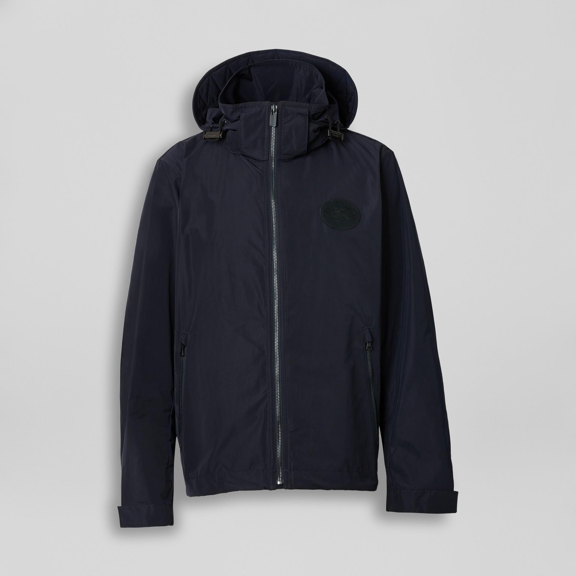 Veste en taffetas à mémoire de forme avec capuche repliable (Encre) - Homme | Burberry - photo de la galerie 2