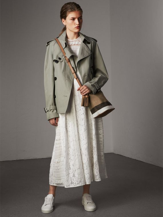The Ashby piccola con pelle e motivo Canvas check (Marrone Cuoio) - Donna | Burberry - cell image 2