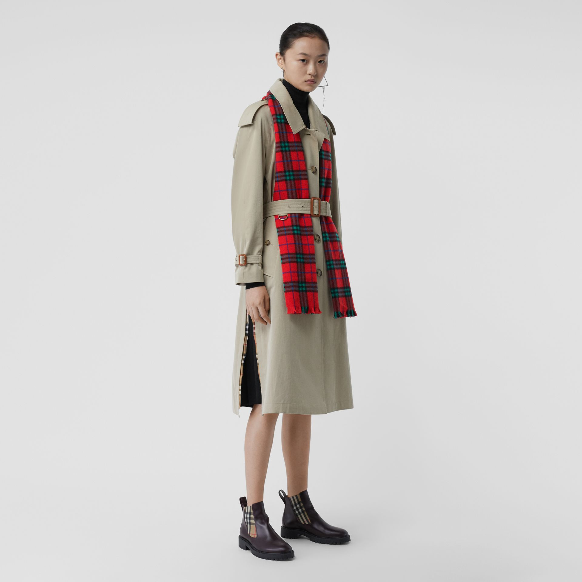 Check Cashmere Scarf | Burberry Singapore - gallery image 2