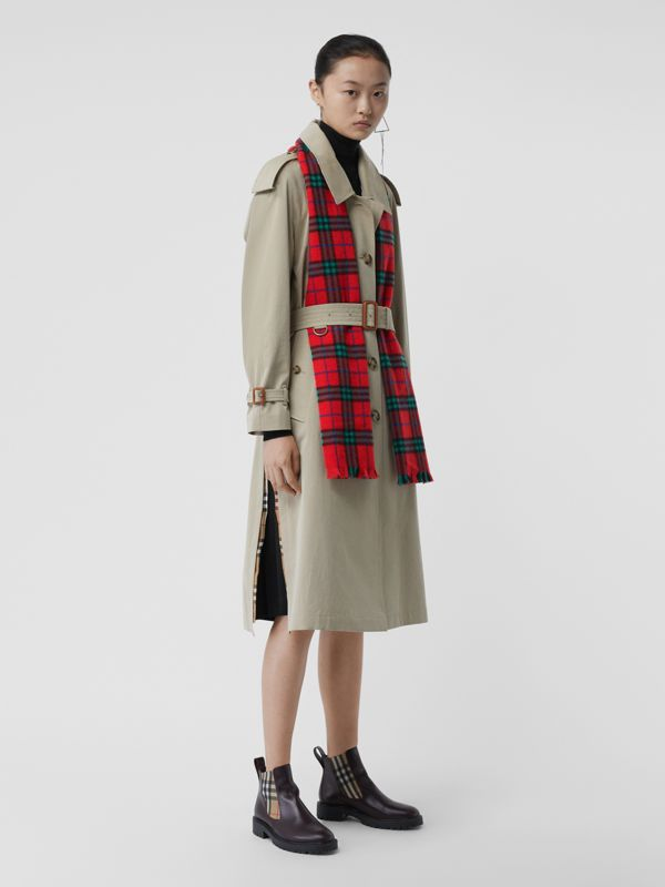 Check Cashmere Scarf | Burberry - cell image 2