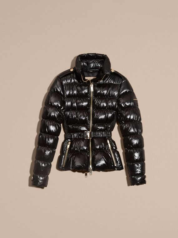 Black Lightweight Down-filled Jacket - cell image 3