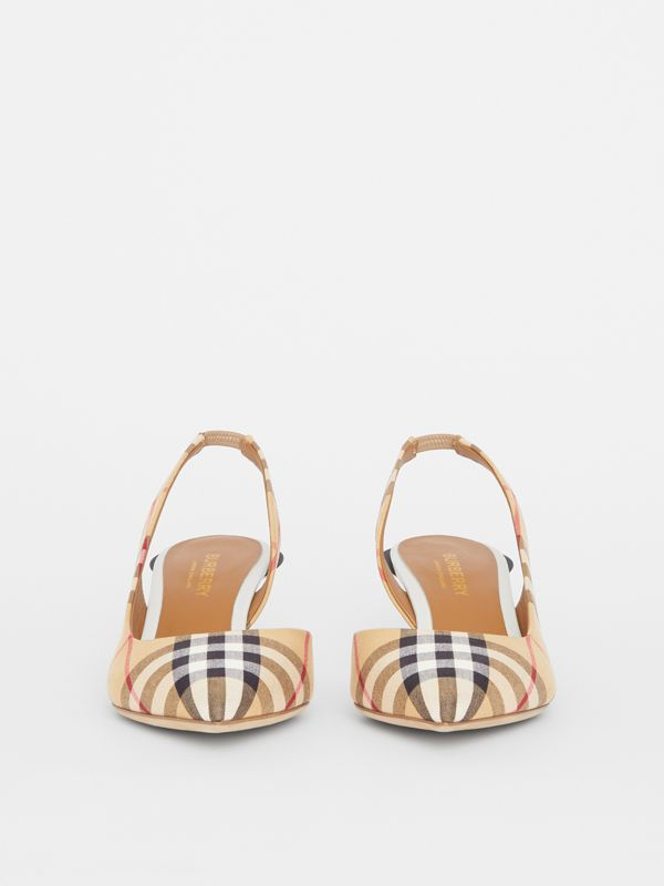 Vintage Check Slingback Pumps in Archive Beige - Women | Burberry Singapore - cell image 2