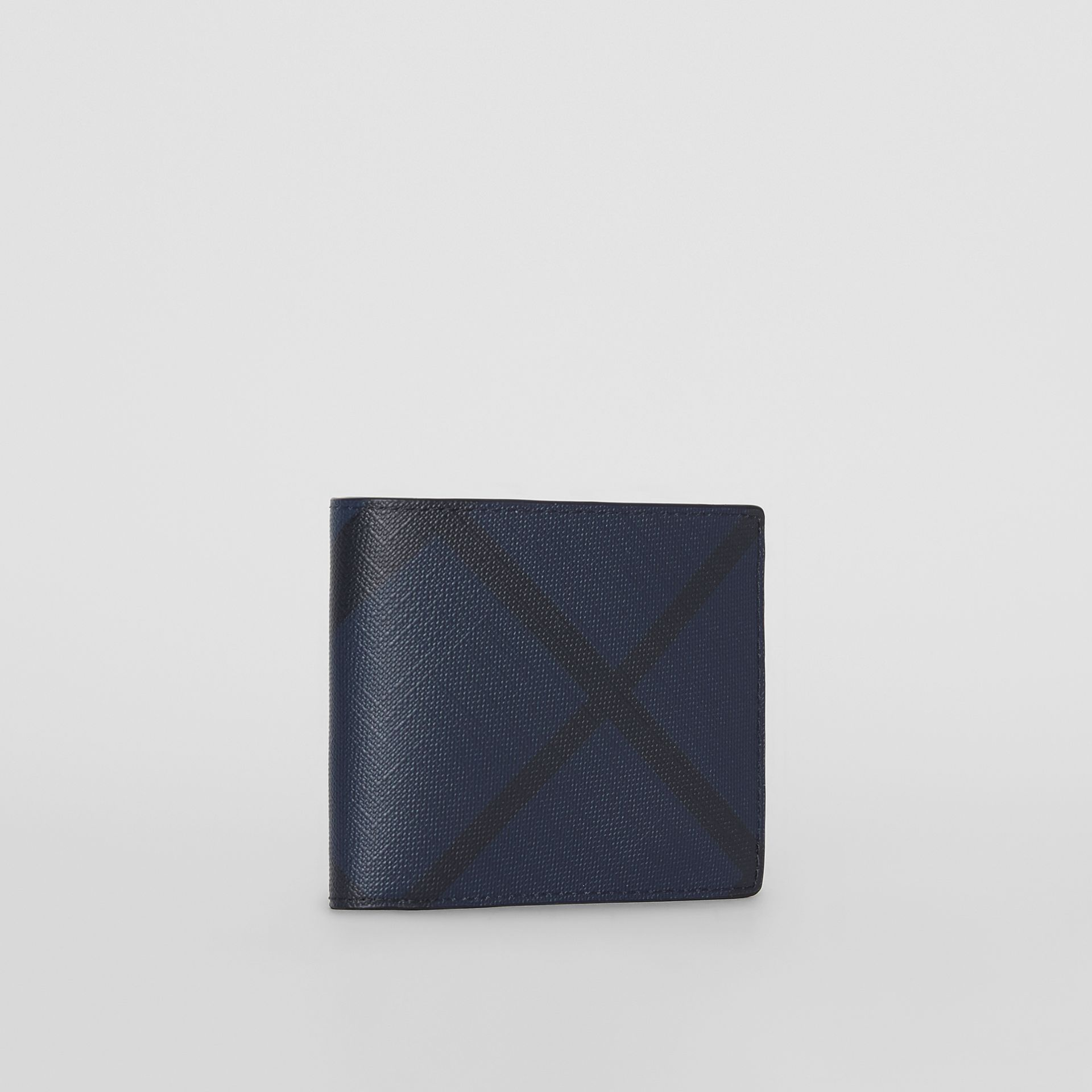 London Check ID Wallet in Navy/black - Men | Burberry - gallery image 4