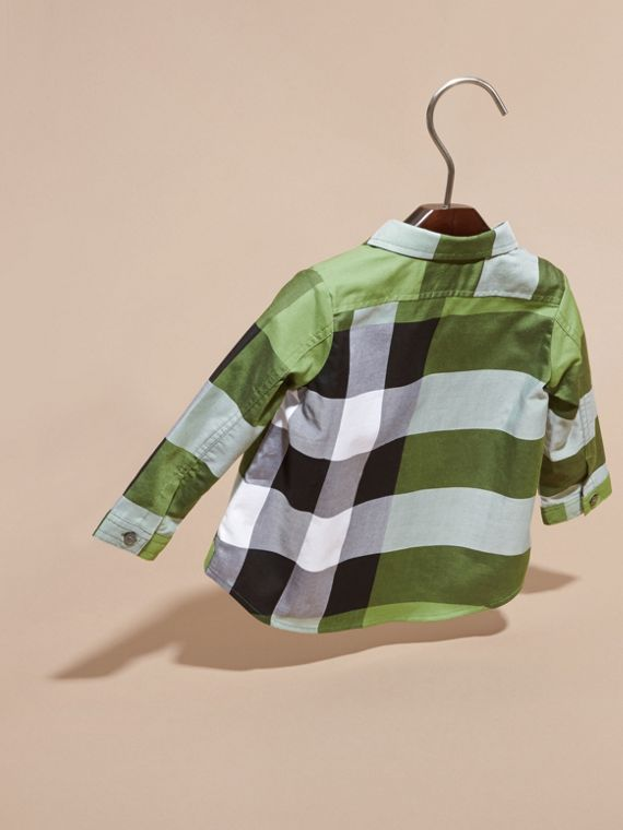 Bright fern green Check Cotton Shirt Bright Fern Green - cell image 3