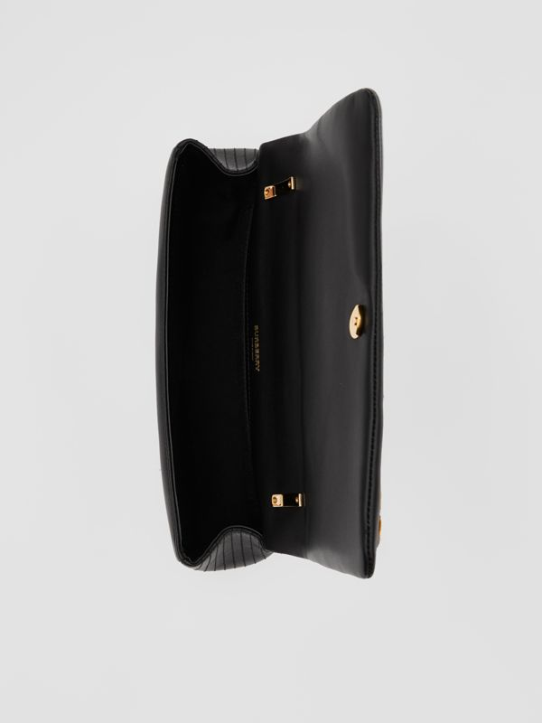 Small Tweed and Lambskin Lola Bag in Black - Women | Burberry Singapore - cell image 3