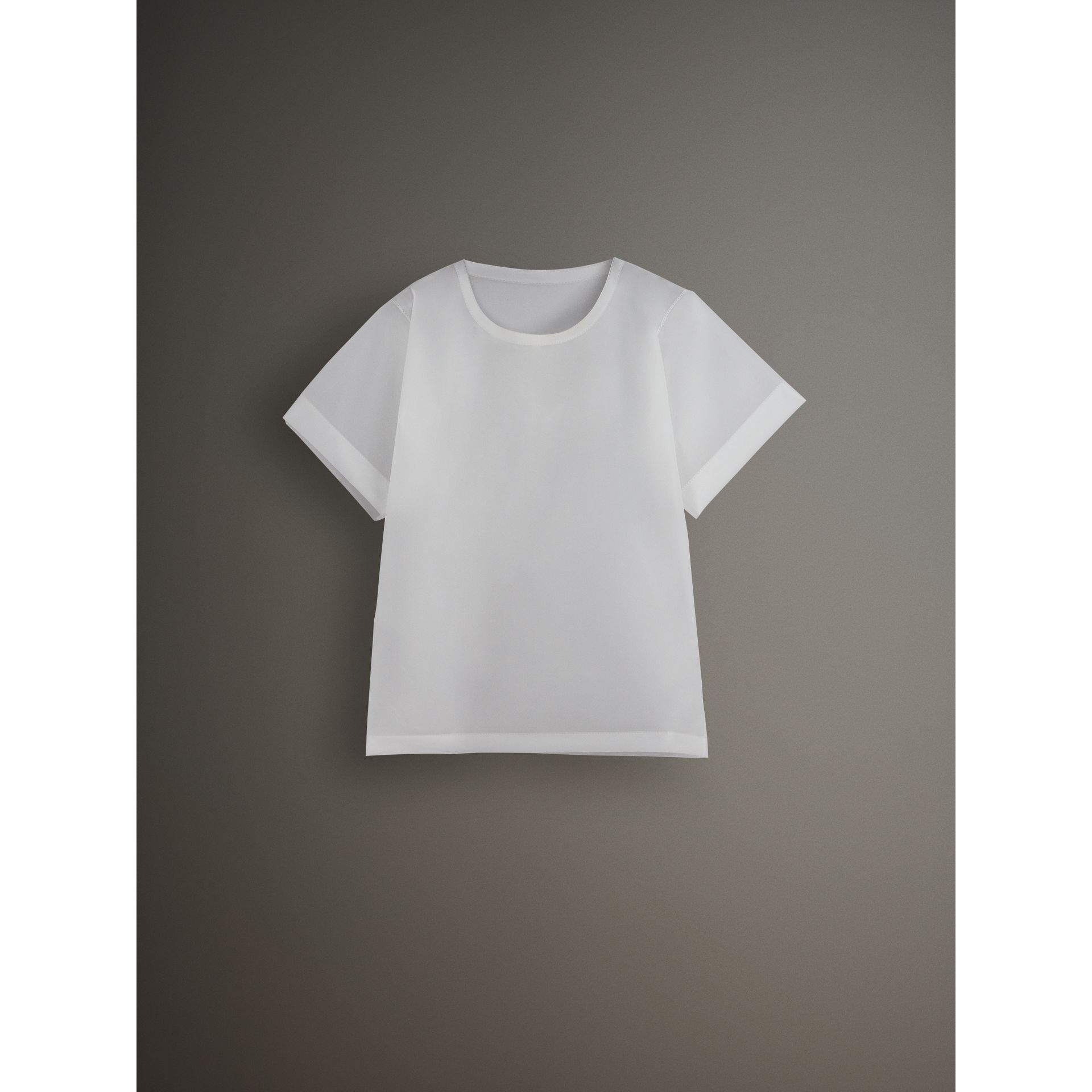 Soft-touch Plastic T-shirt in Transparent - Men | Burberry Australia - gallery image 3