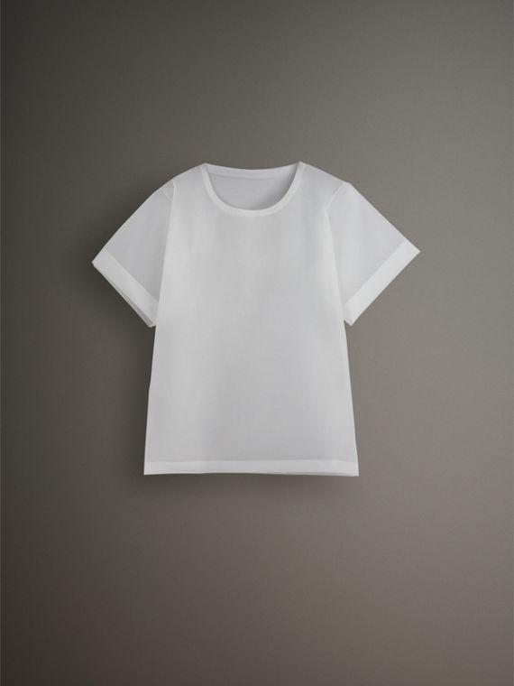Soft-touch Plastic T-shirt in Transparent - Men | Burberry United States - cell image 3