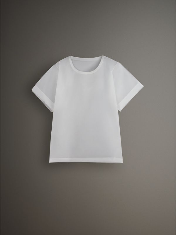 Soft-touch Plastic T-shirt in Transparent - Men | Burberry United Kingdom - cell image 3