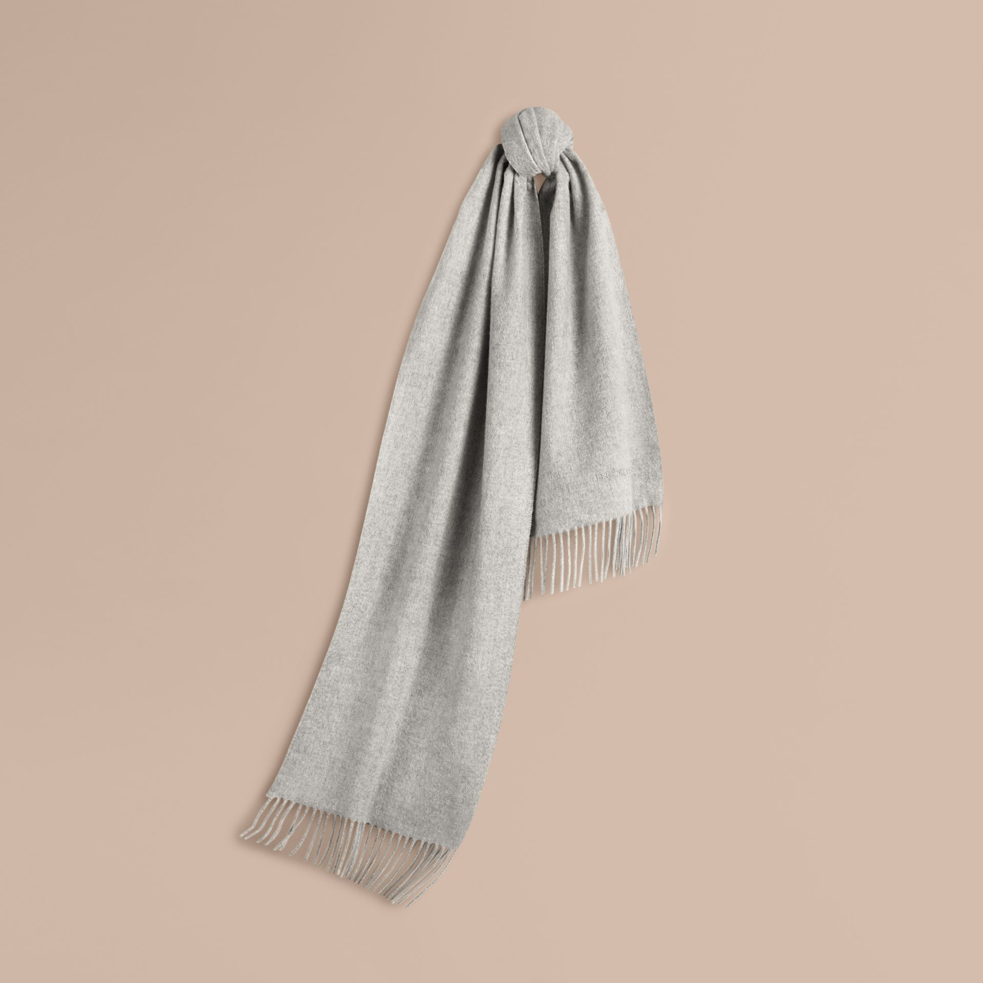 Pale grey The Classic Cashmere Scarf Pale Grey - gallery image 6