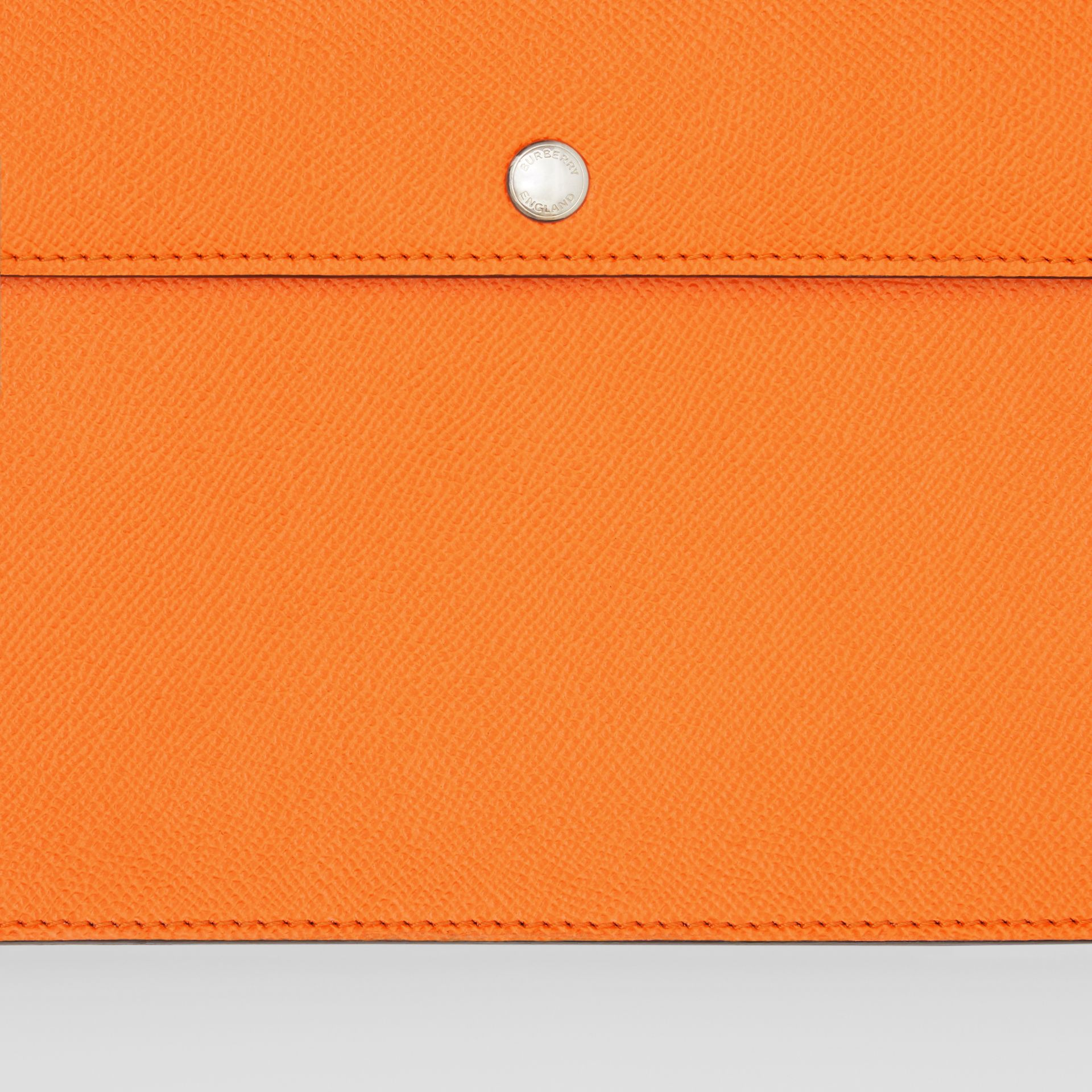 Triple Stud Grainy Leather Crossbody Bag in Bright Orange - Men | Burberry - gallery image 1
