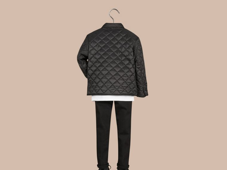 Black Diamond Quilted Jacket Black - cell image 2