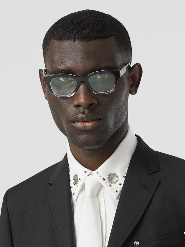 Square Optical Frames in Black - Men | Burberry United Kingdom - cell image 2