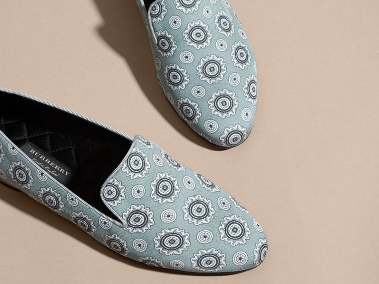 Pyjama Print Silk Cotton Loafers