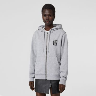 Monogram Motif Cotton Oversized Hooded Top by Burberry