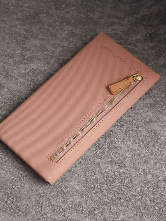 Trench Leather Envelope Wallet in Ash Rose/pale Clementine - Women | Burberry United States - cell image 2