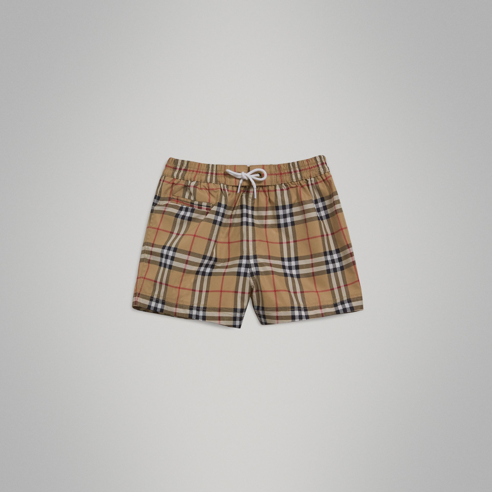 Check Swim Shorts in Camel | Burberry - gallery image 2