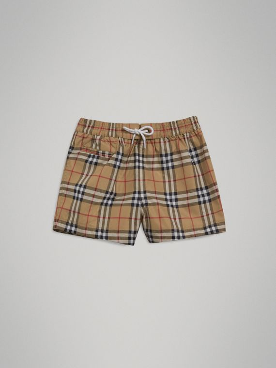 Check Swim Shorts in Camel | Burberry - cell image 2