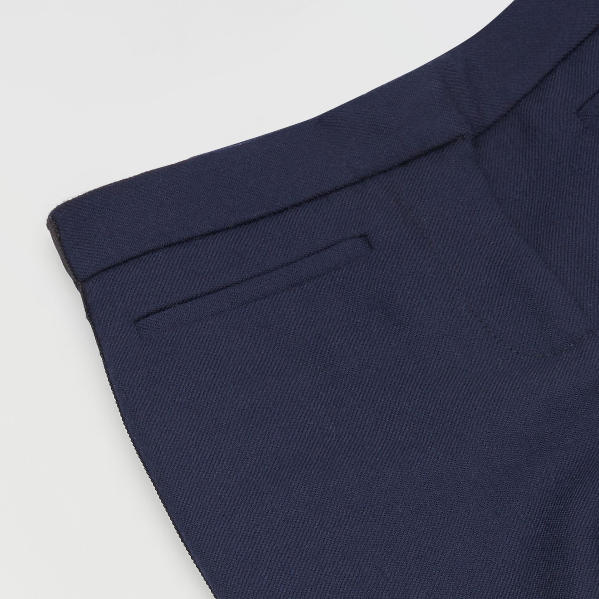 Stripe Detail Wool Twill Tailored Trousers in Navy - Girl | Burberry United States - gallery image 1