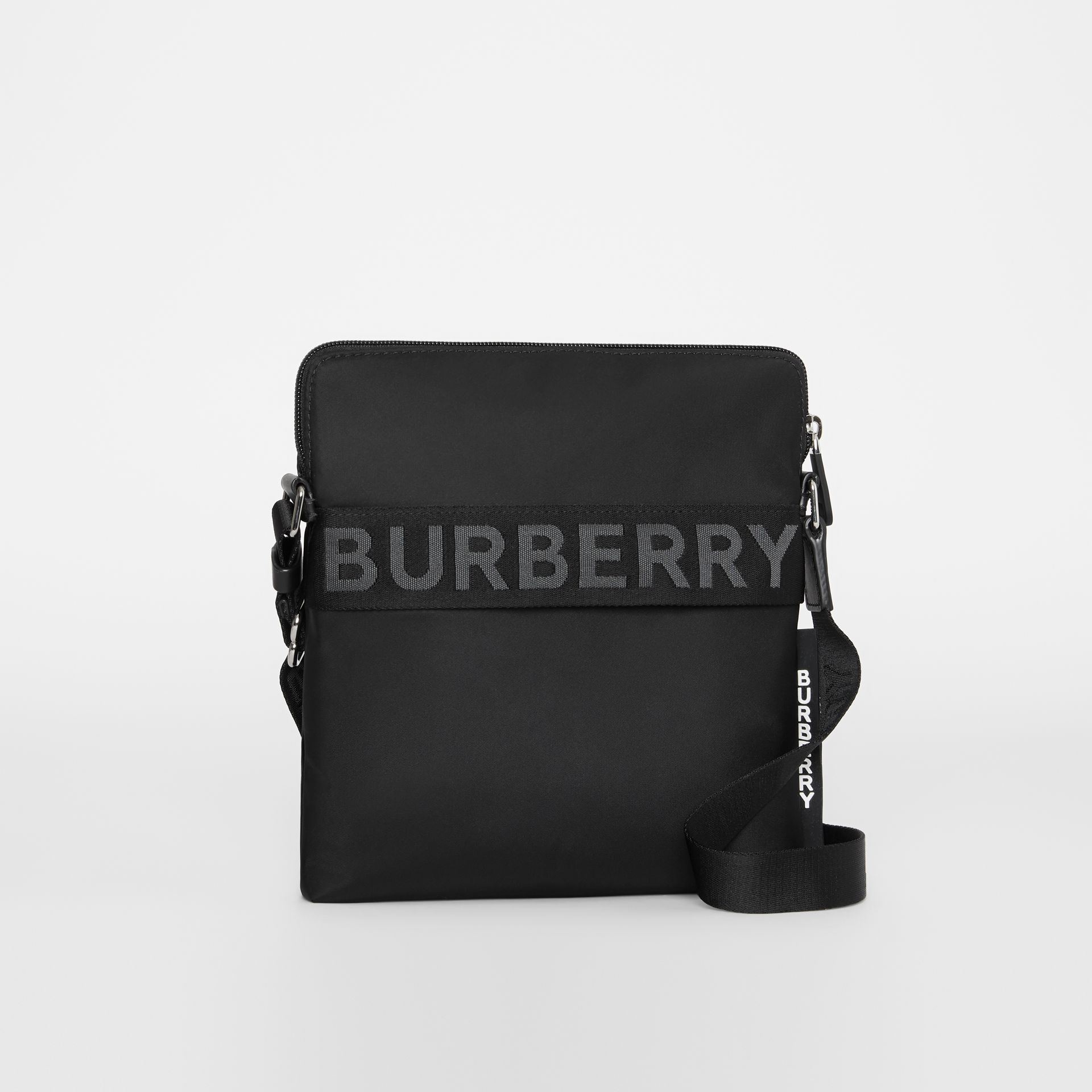 Logo Detail Crossbody Bag in Black - Men | Burberry - gallery image 6