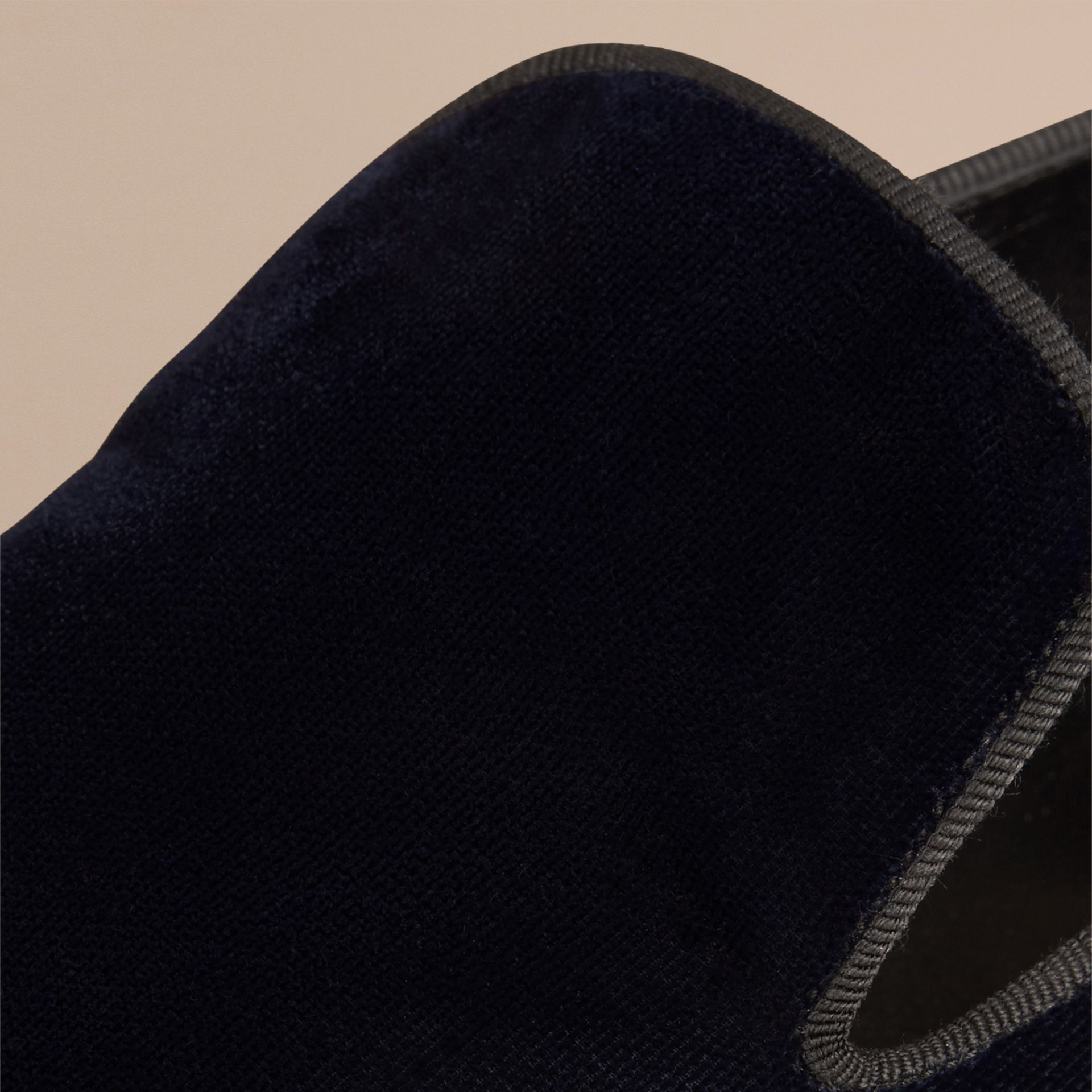 Dark indigo Velvet Loafers - gallery image 2