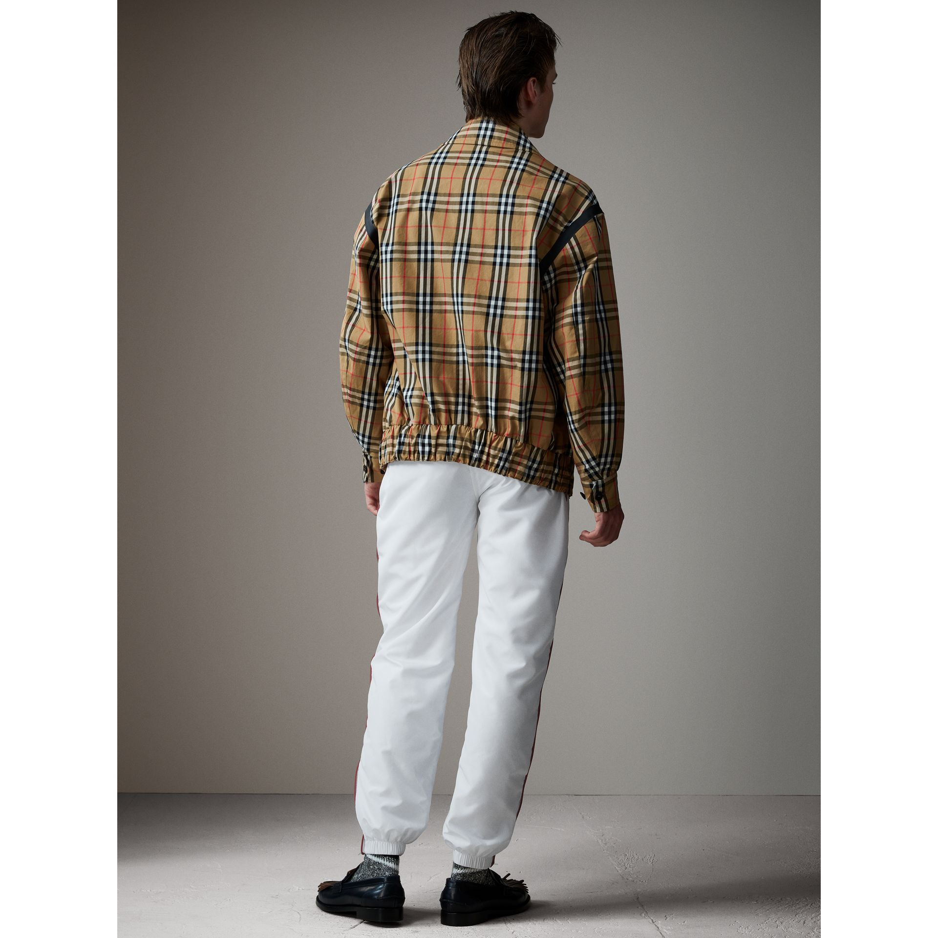 Vintage Check Gabardine Harrington Jacket in Antique Yellow - Men | Burberry - gallery image 3