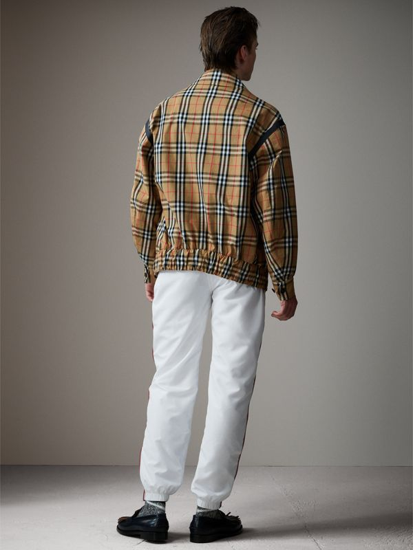 Vintage Check Gabardine Harrington Jacket in Antique Yellow - Men | Burberry - cell image 2