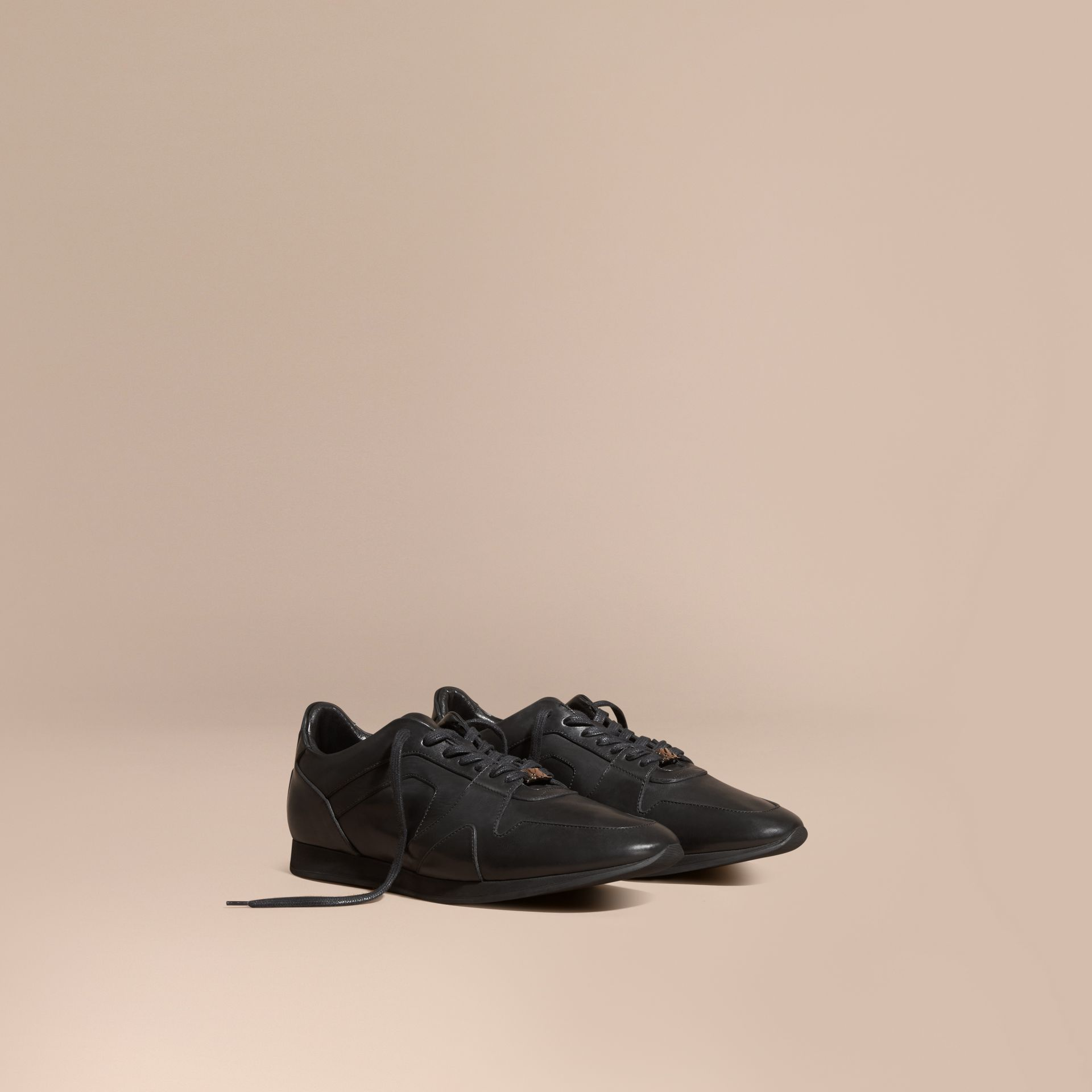 Black The Field Sneaker in Leather Black - gallery image 1