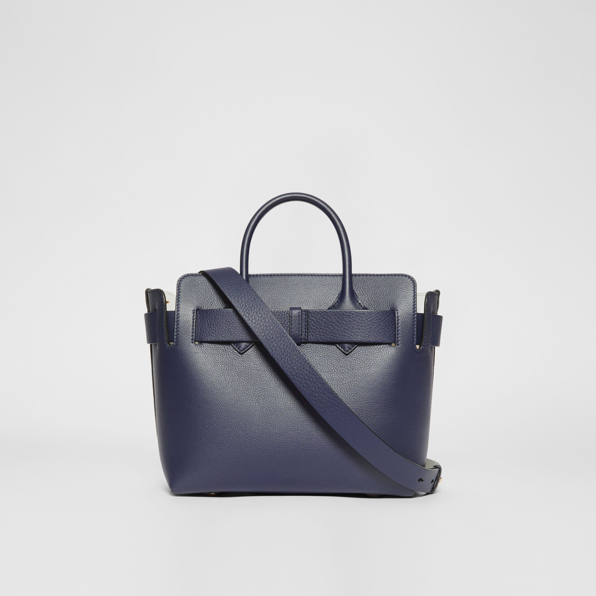 The Small Leather Triple Stud Belt Bag in Regency Blue - Women | Burberry - gallery image 7