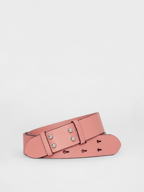 The Medium Belt Bag Grainy Leather Belt in Dusty Rose
