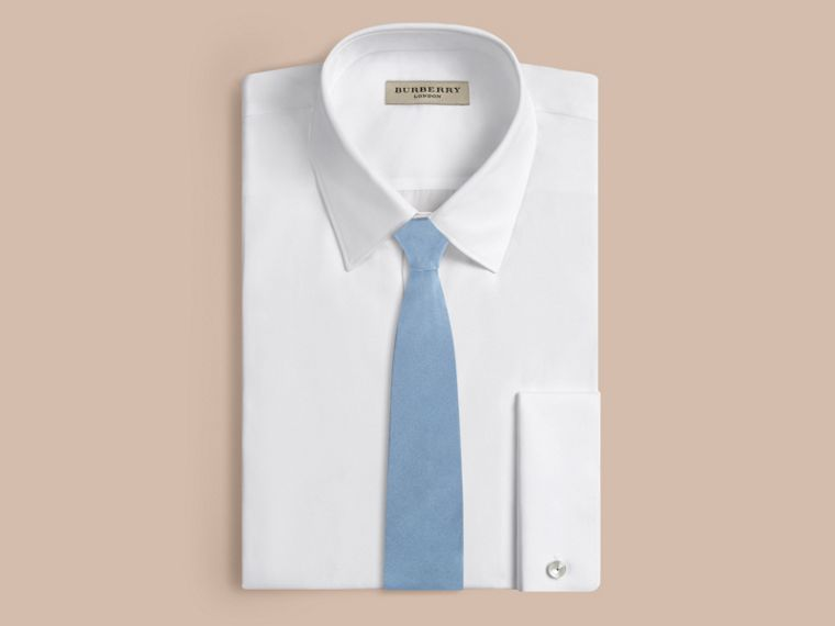 Sky blue Slim Cut Silk Twill Tie Sky Blue - cell image 2