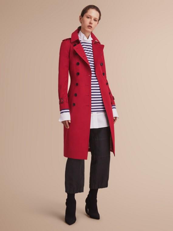 The Chelsea -超長版 Heritage 系列風衣 繽紛鮮紅色