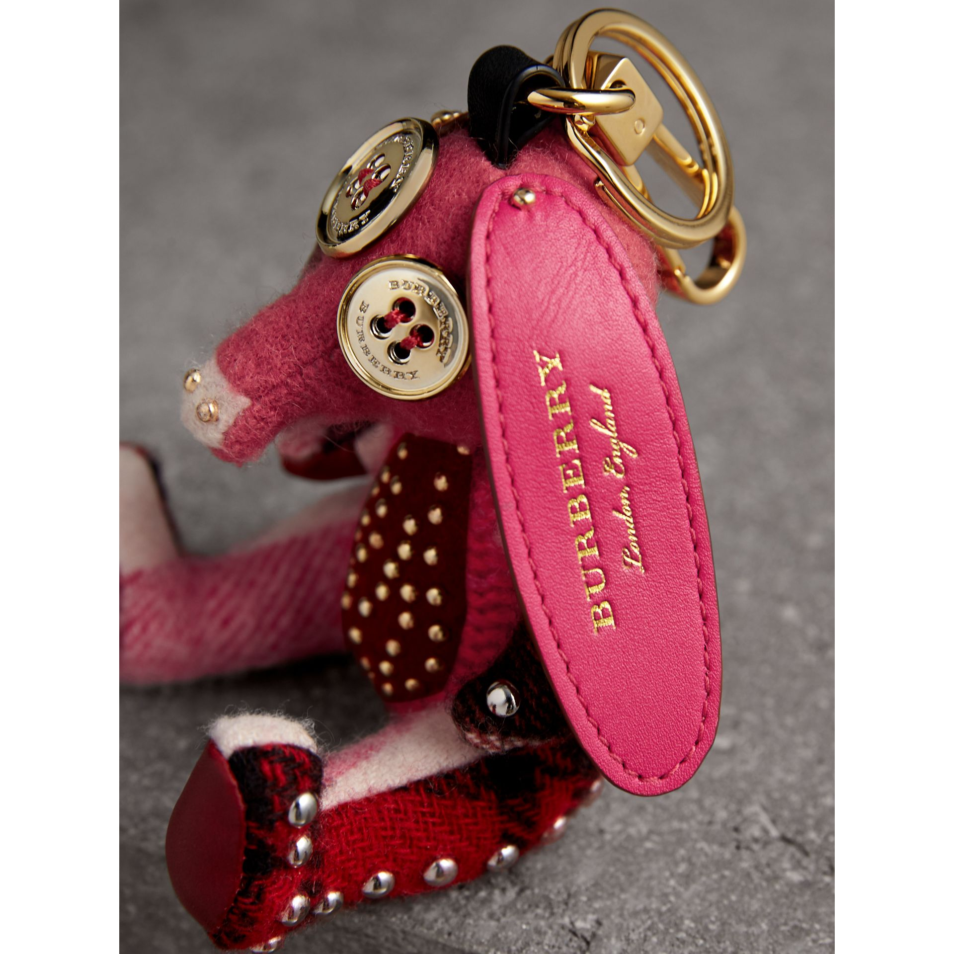Sandra The Basset Hound Cashmere Charm in Rose Pink - Women | Burberry - gallery image 1