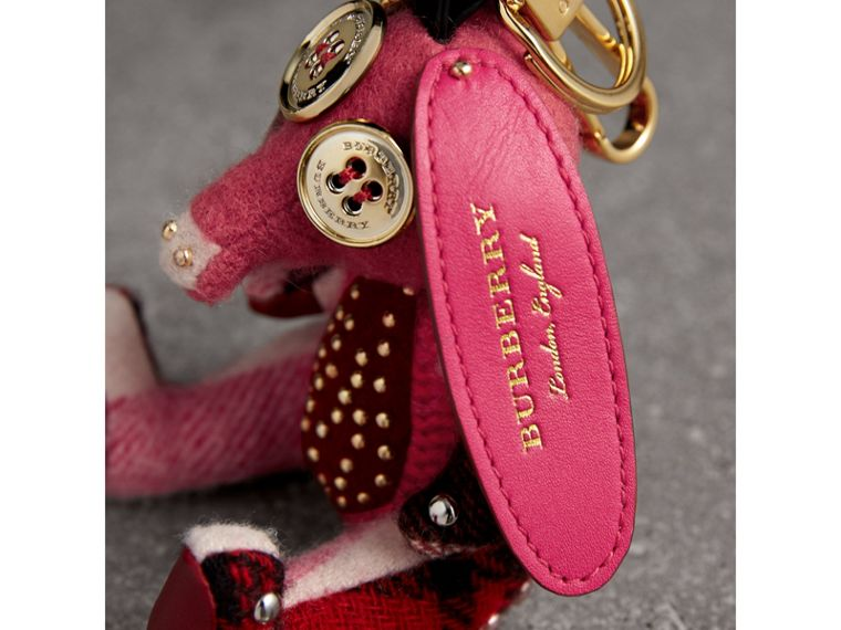 Sandra The Basset Hound Cashmere Charm in Rose Pink | Burberry United Kingdom - cell image 1