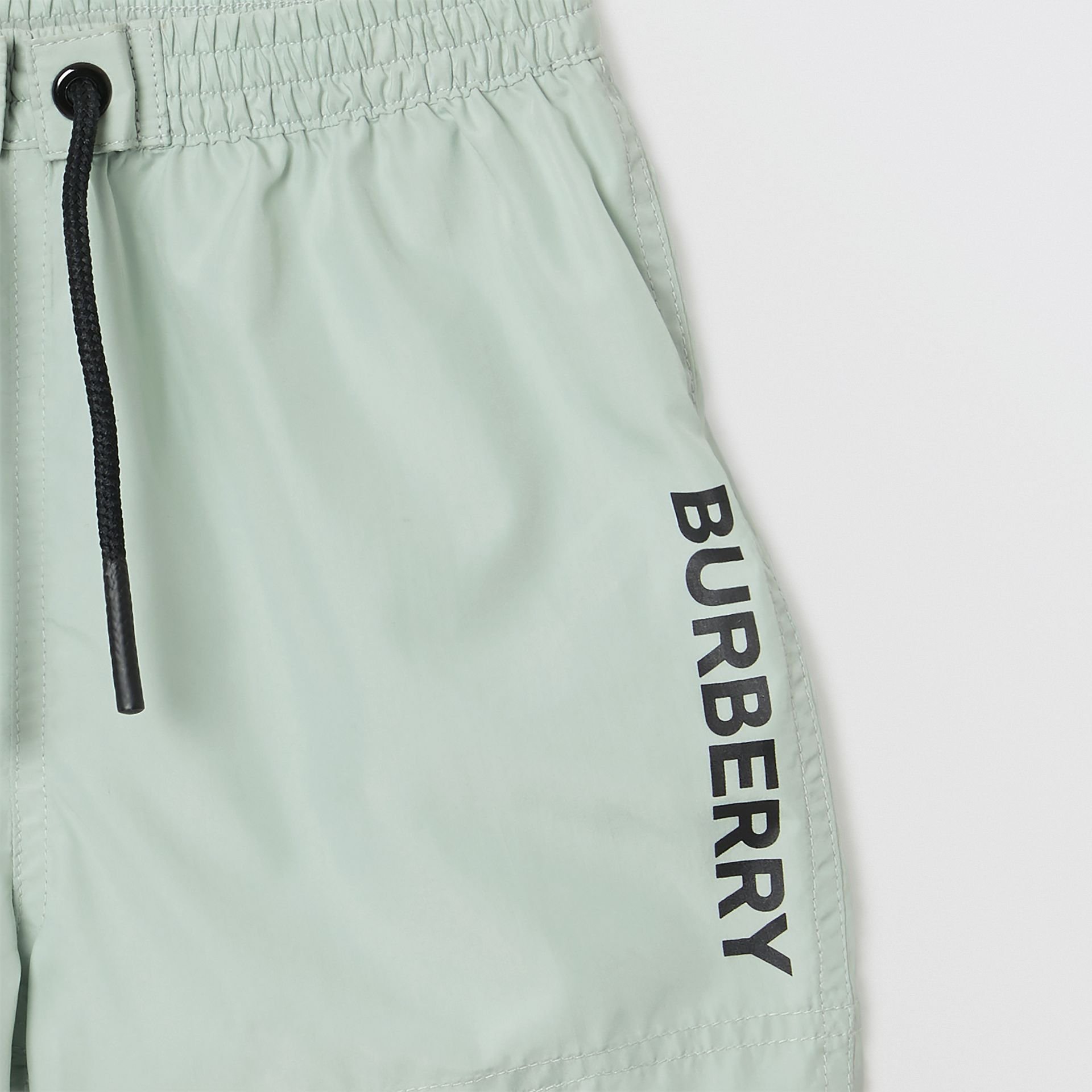 Logo Print Drawcord Swim Shorts in Pale Opal - Children | Burberry - gallery image 4