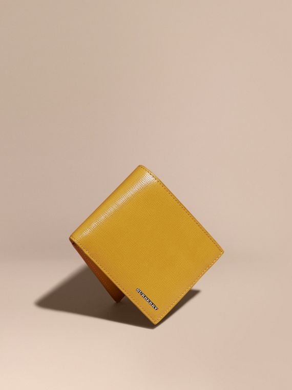 London Leather ID Wallet Larch Yellow