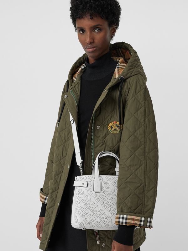 The Small Banner aus Leder mit perforiertem Logomuster (Kreideweiss) - Damen | Burberry - cell image 3