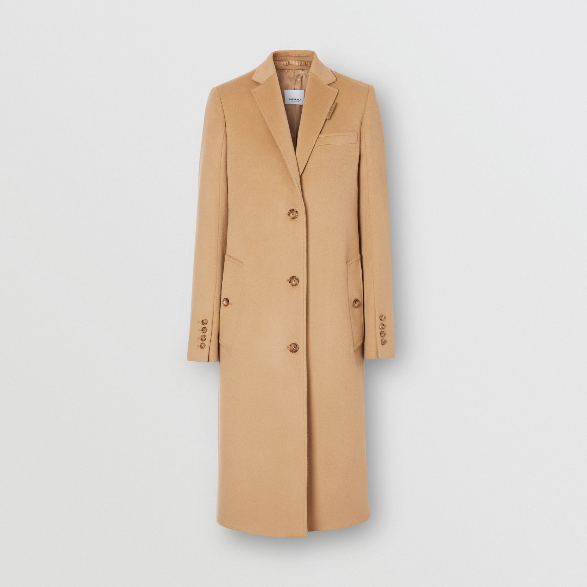 Wool Cashmere Tailored Coat in Light Camel - Women | Burberry United Kingdom - gallery image 3