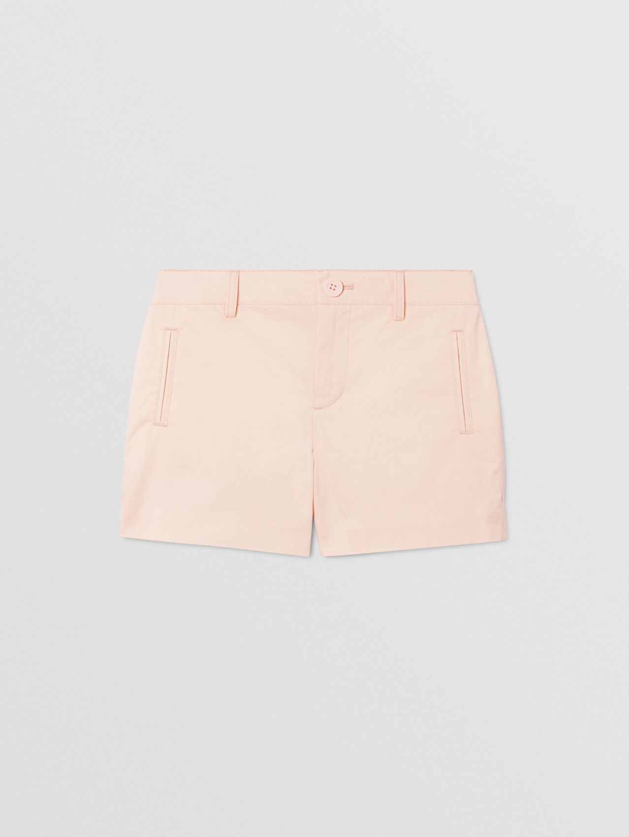 Embroidered Logo Cotton Shorts in Soft Pink