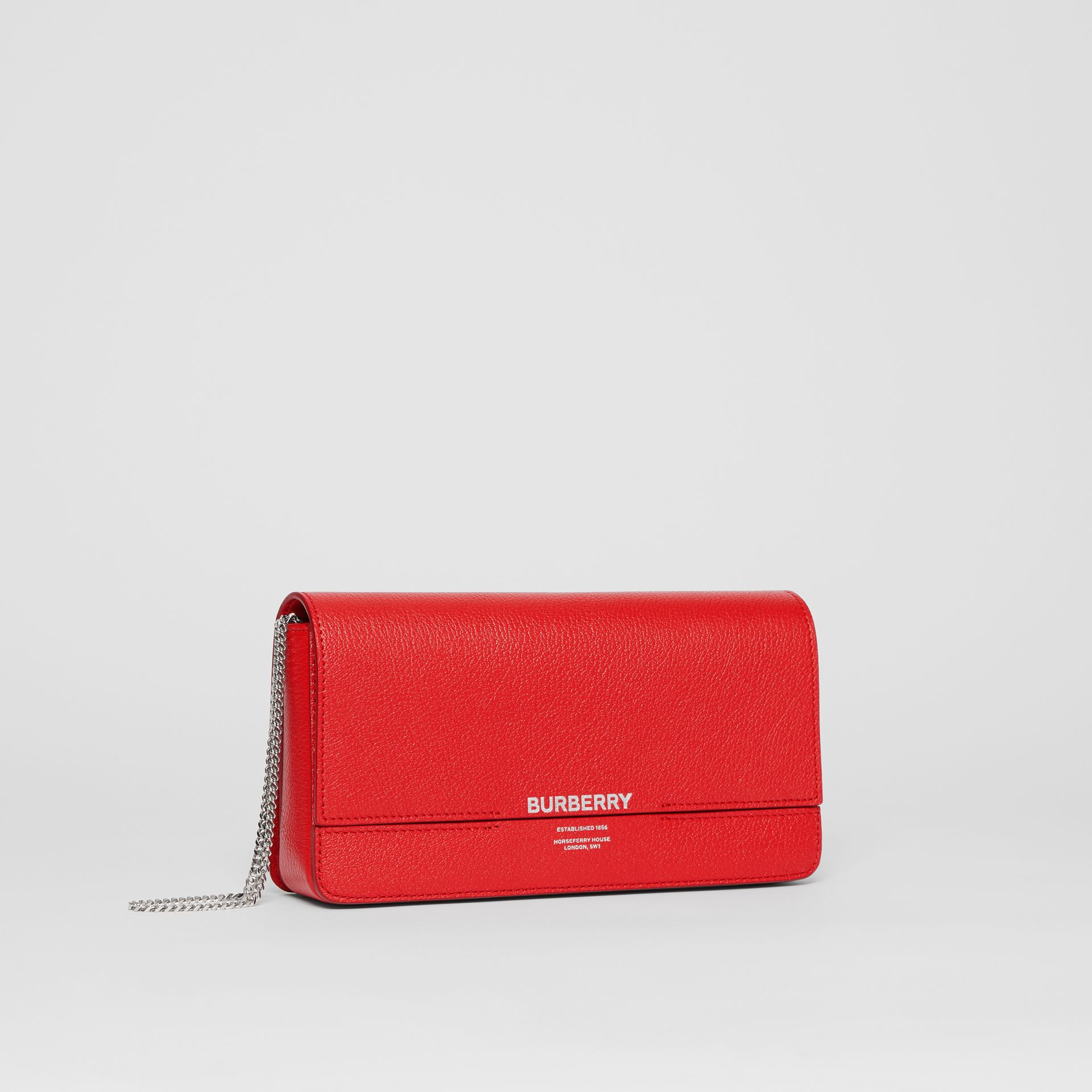Leather Grace Clutch in Bright Military Red - Women | Burberry - gallery image 6