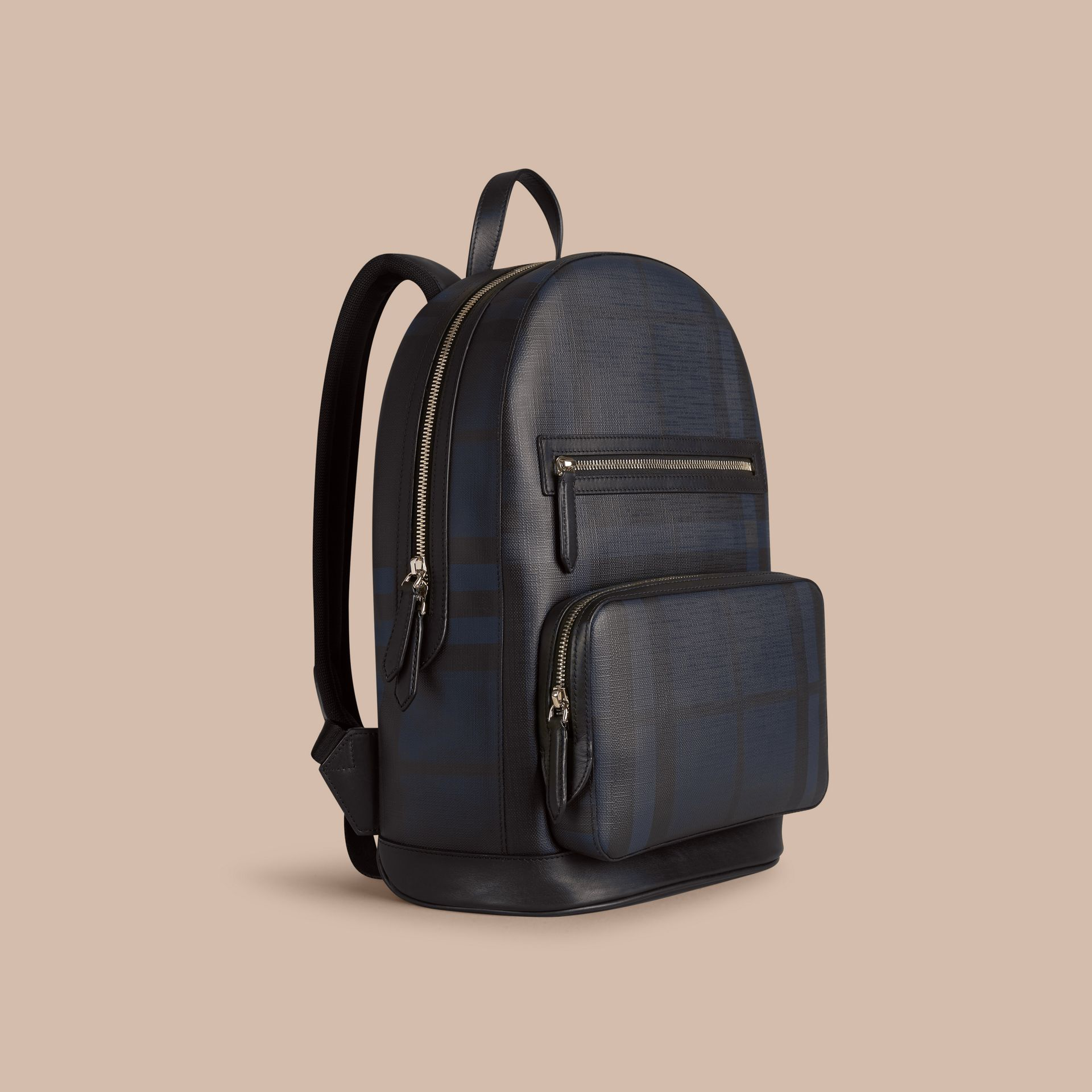 Navy/black London Check Backpack Navy/black - gallery image 1
