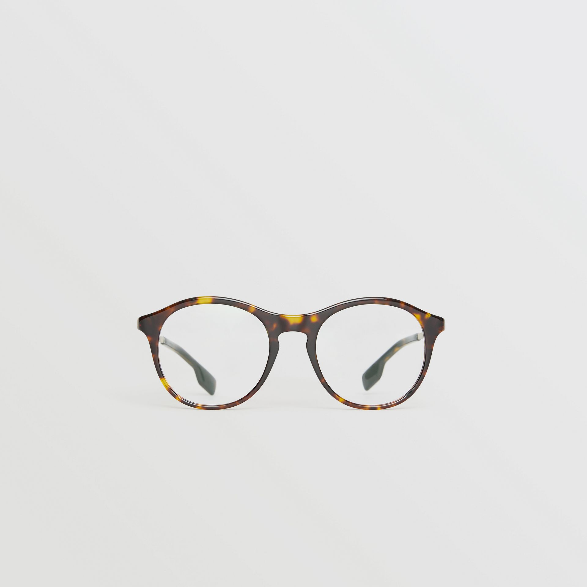 Round Optical Frames in Tortoise Shell - Women | Burberry United Kingdom - gallery image 0