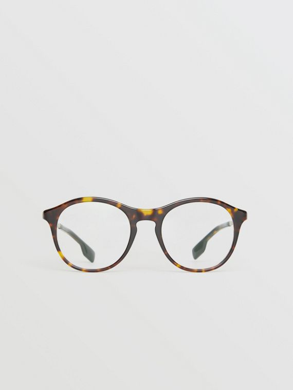 Round Optical Frames in Tortoise Shell