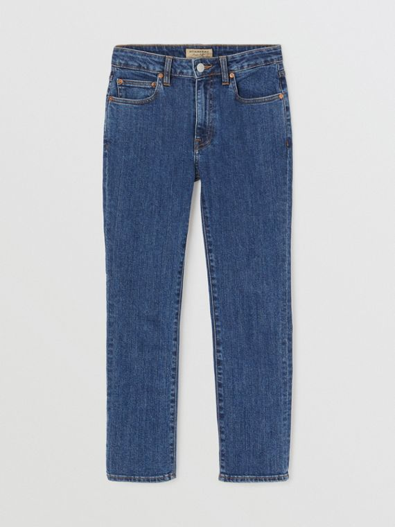 Straight Fit Japanese Denim Jeans in Blue
