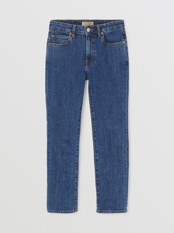 直版剪裁日本丹寧牛仔褲 (藍色)