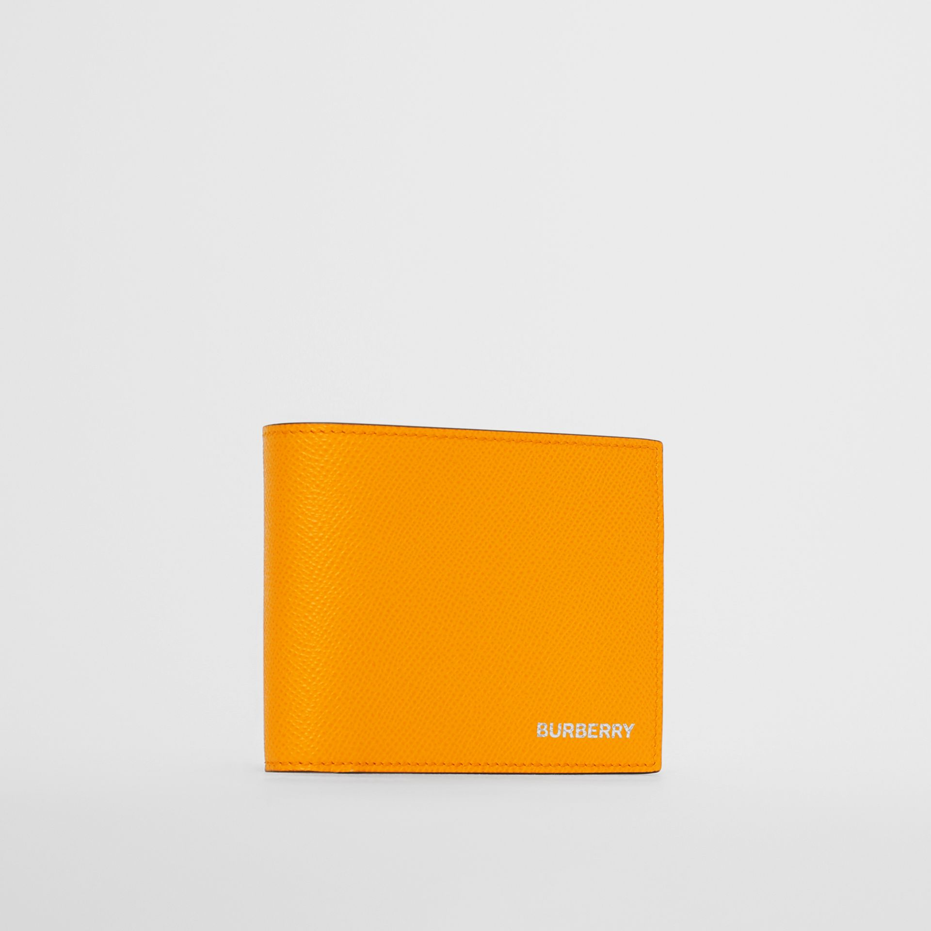 Leather International Bifold Wallet in Bright Orange - Men | Burberry Singapore - gallery image 3